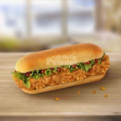 długa kanapka z kurczakiem