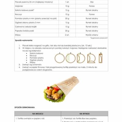 instrukcja przygotowania tortilli jak w kfc
