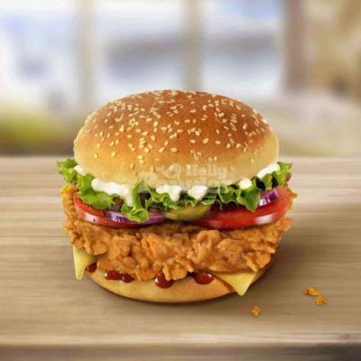 kanapka z chrupiącym kurczakiem