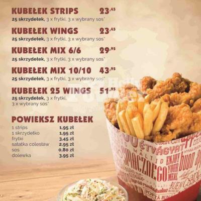 menuboardy nad bar z kurczakiem