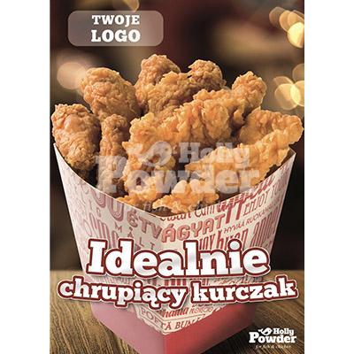 materiały marketingowe z chrupiącym kurczakiem